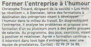 article journal des entreprises Tricart