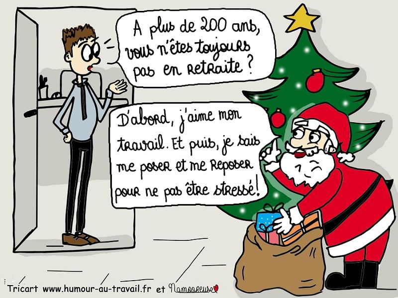 humour à le père Noel et les retraites