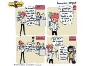 bandes dessinées Miss beausens et relocalisation souriante
