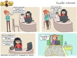 télé travail souriant et efficace