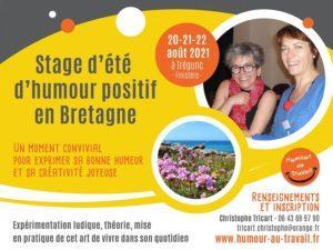 stage d'été sur l'humour positif à Trégunc les 20-21-22 août 2021